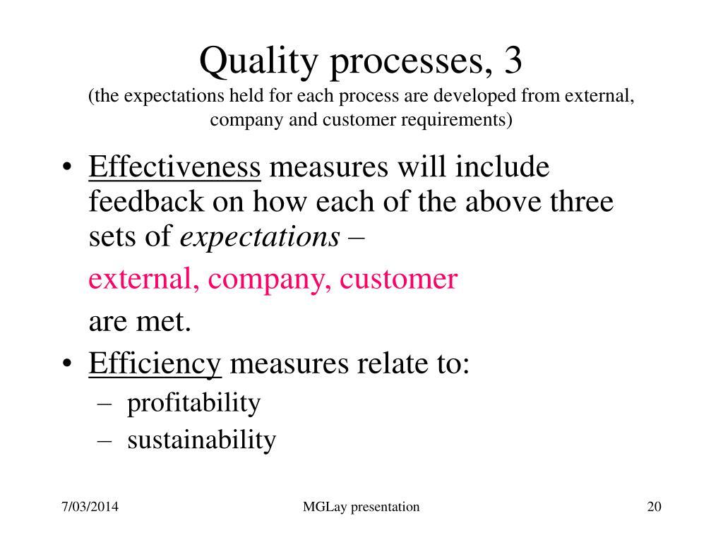 Quality processes, 3