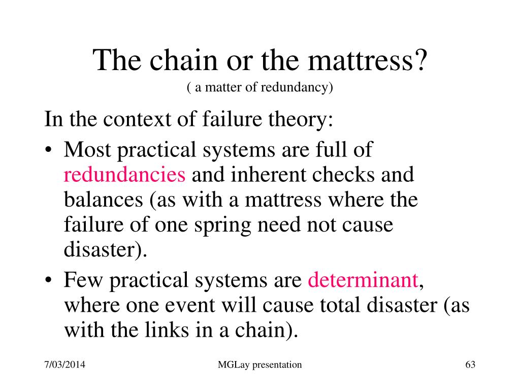 The chain or the mattress?
