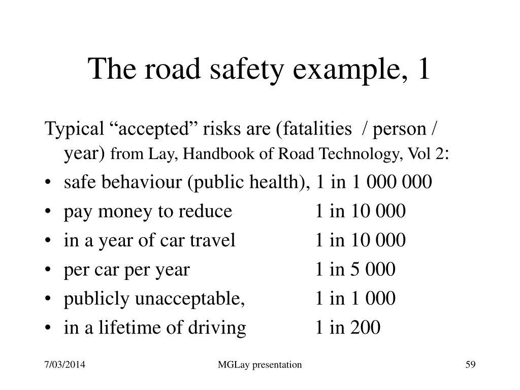 The road safety example, 1