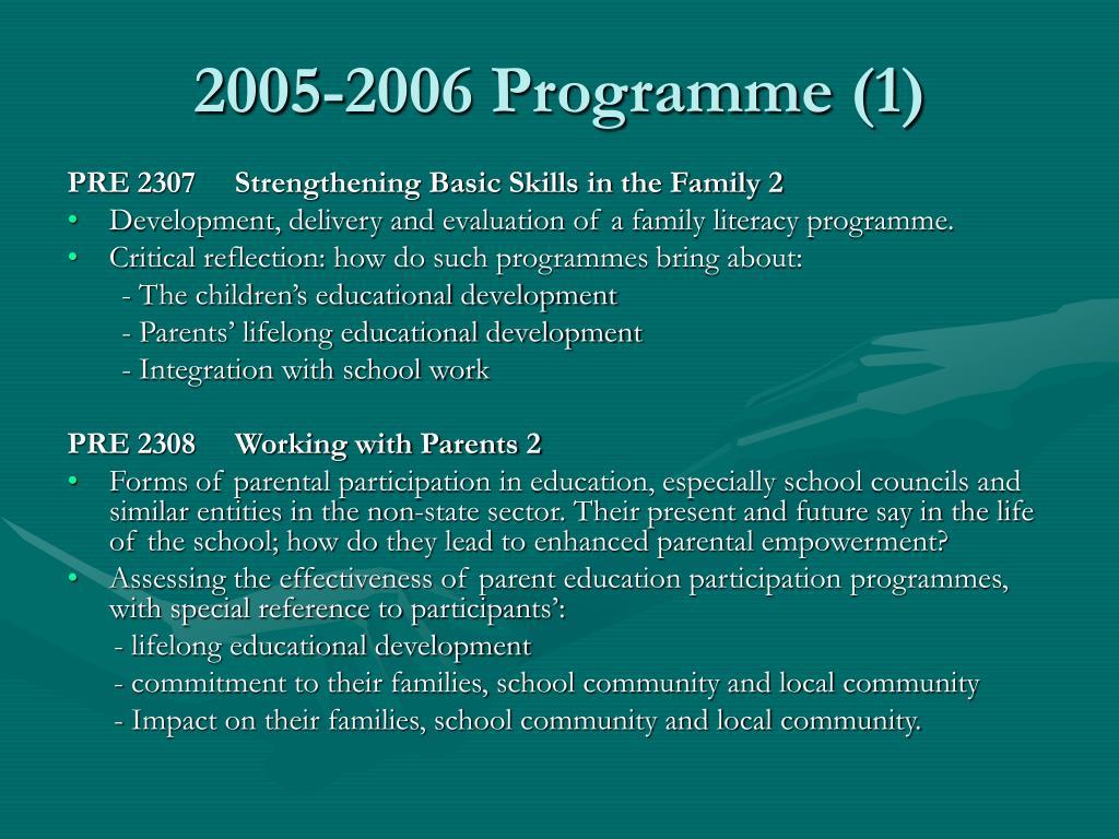 2005-2006 Programme (1)