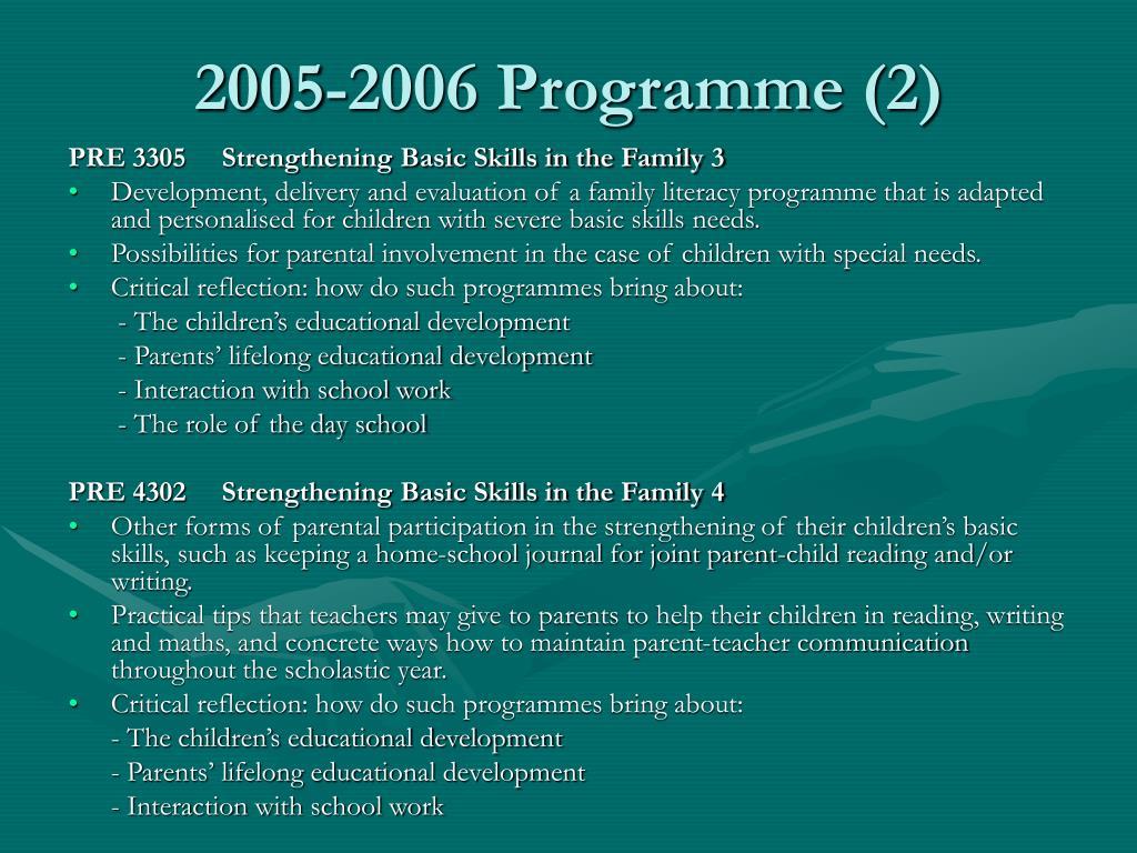 2005-2006 Programme (2)