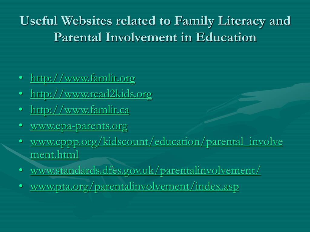 Useful Websites related to Family Literacy and Parental Involvement in Education