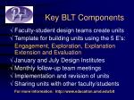 key blt components