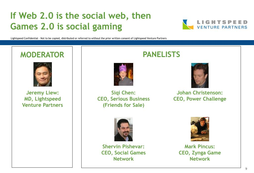 If Web 2.0 is the social web, then Games 2.0 is social gaming