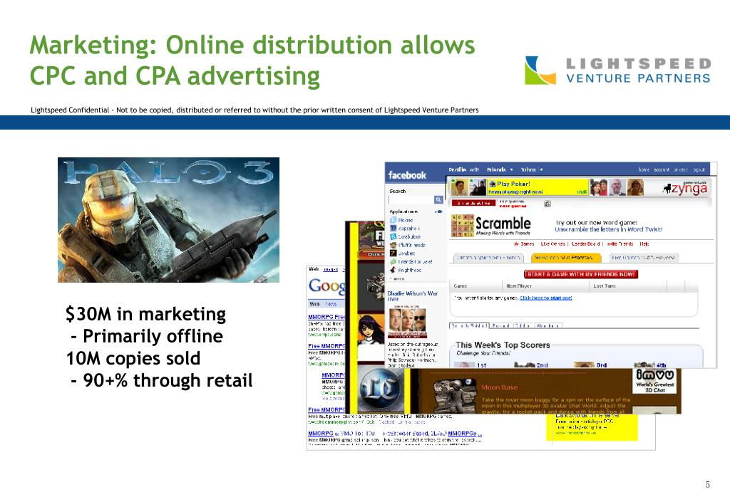 Marketing: Online distribution allows CPC and CPA advertising