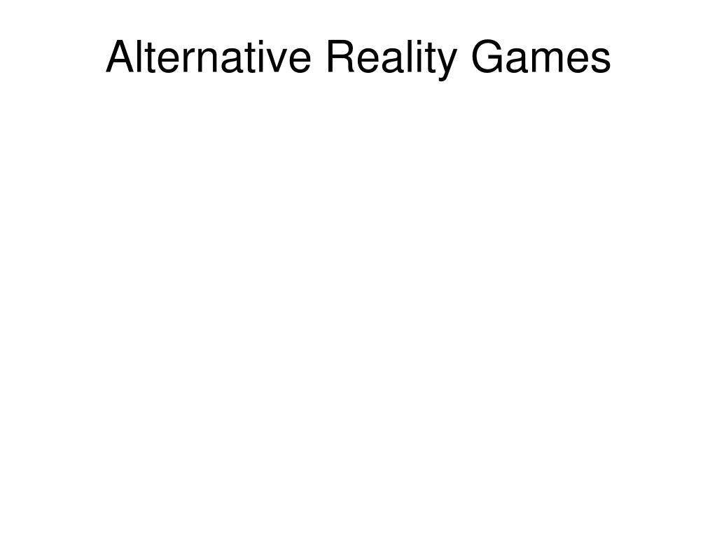 Alternative Reality Games