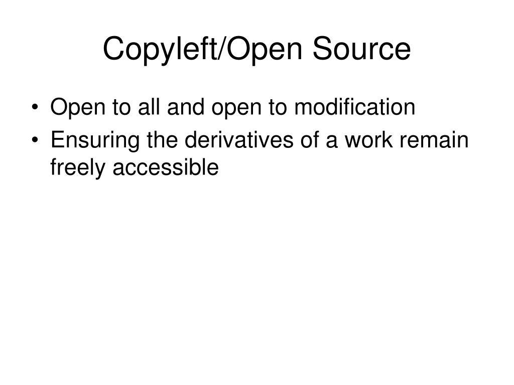 Copyleft/Open Source