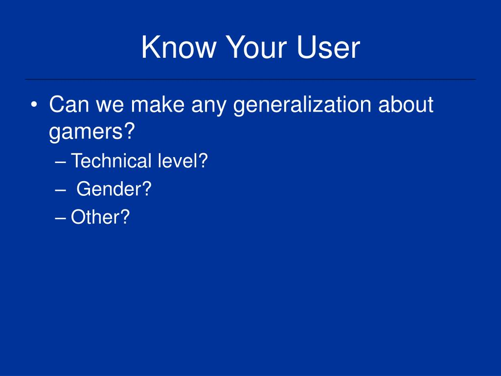 Know Your User