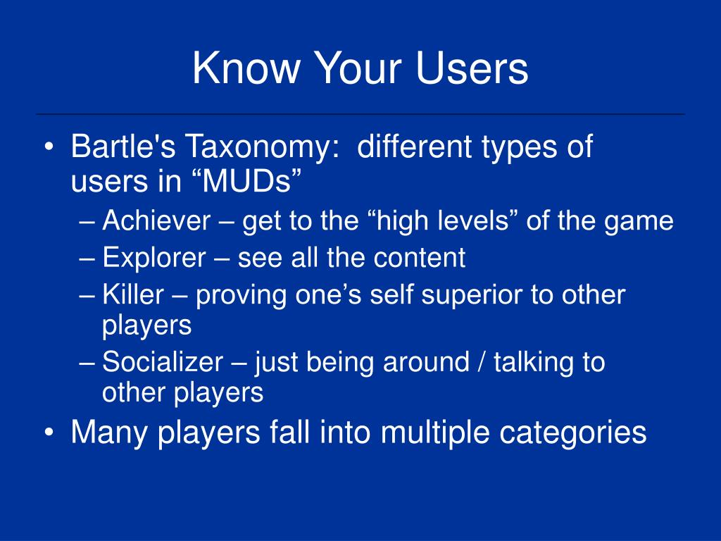 Know Your Users