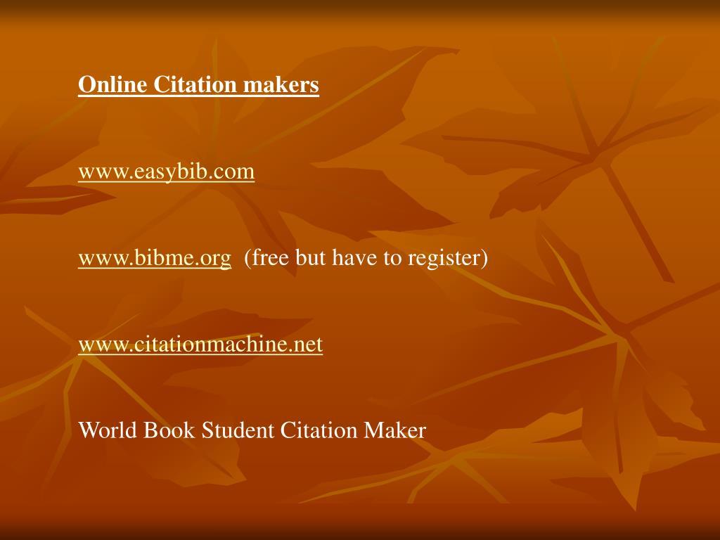 Online Citation makers