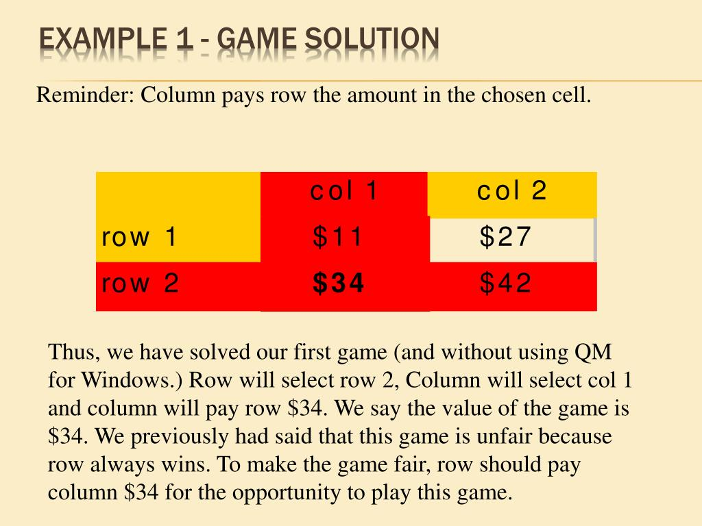 Example 1 - Game