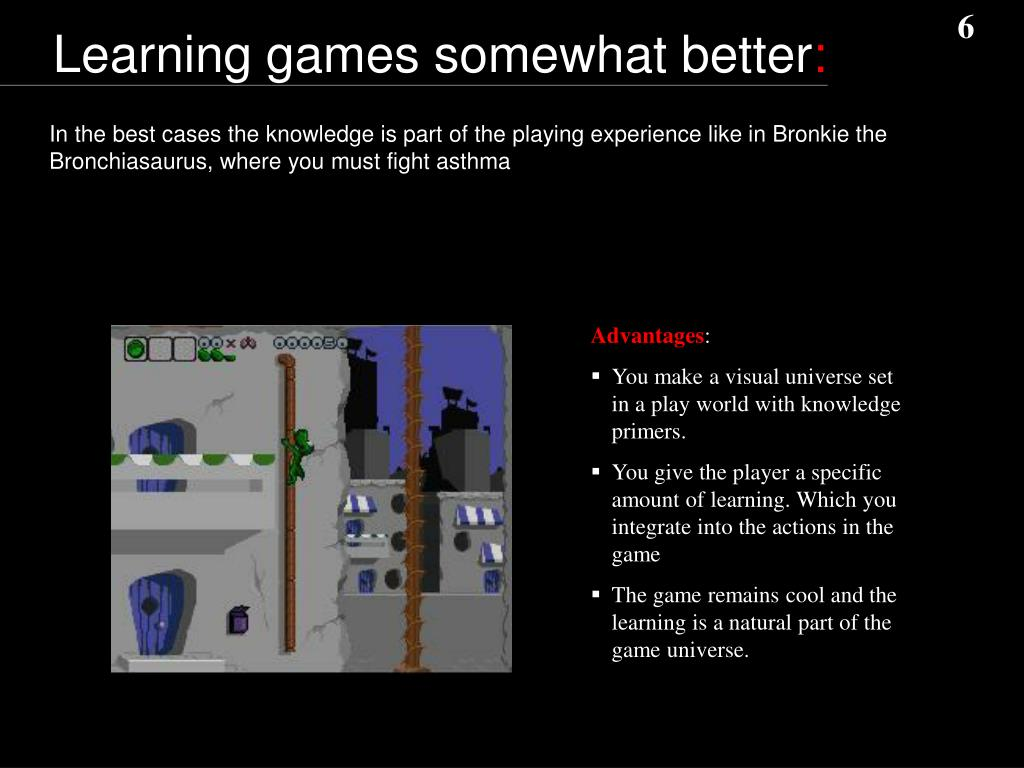Learning games somewhat better