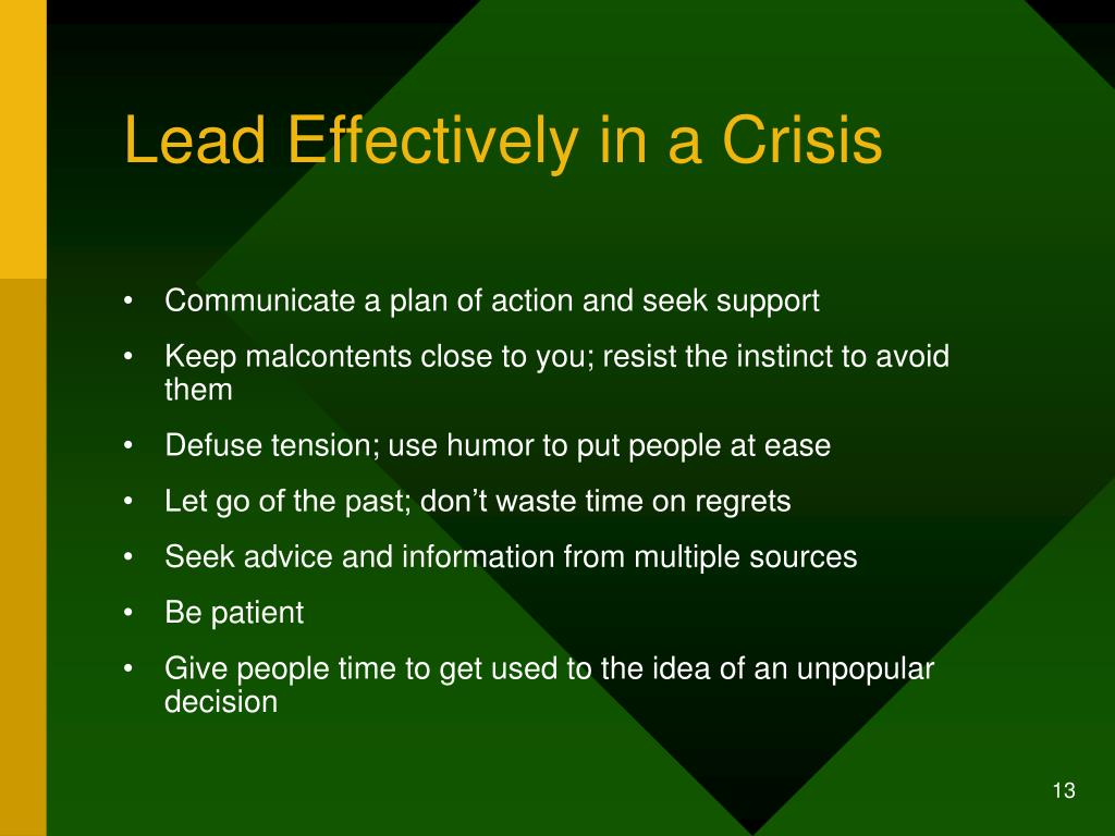 Lead Effectively in a Crisis
