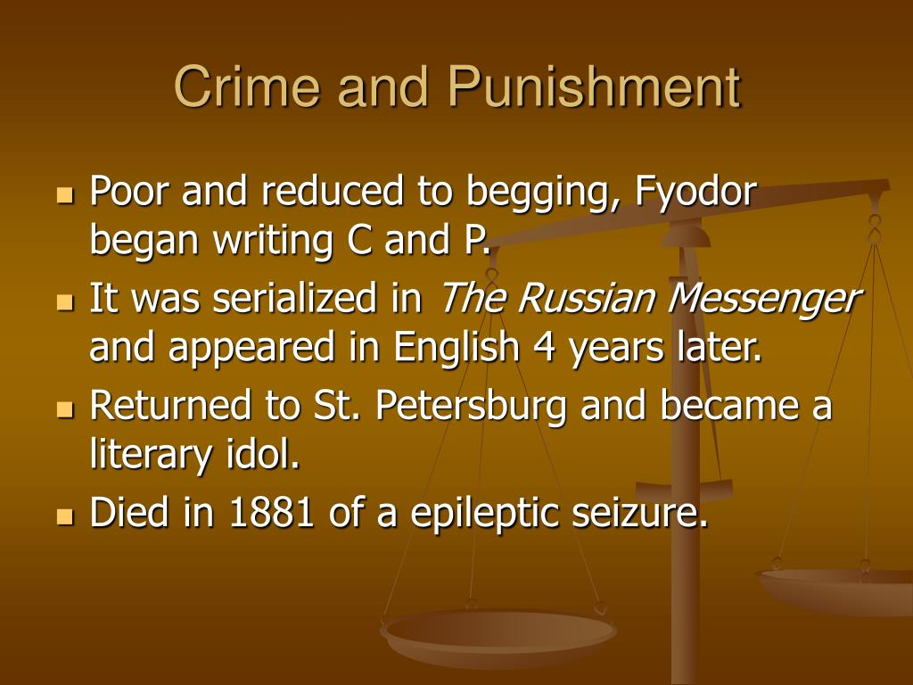 a literary analysis of the novel crime and punishment Summary and analysis part 1: chapter full glossary for crime and punishment essay raskolnikov goes out and reads about the crime in all the newspapers of.
