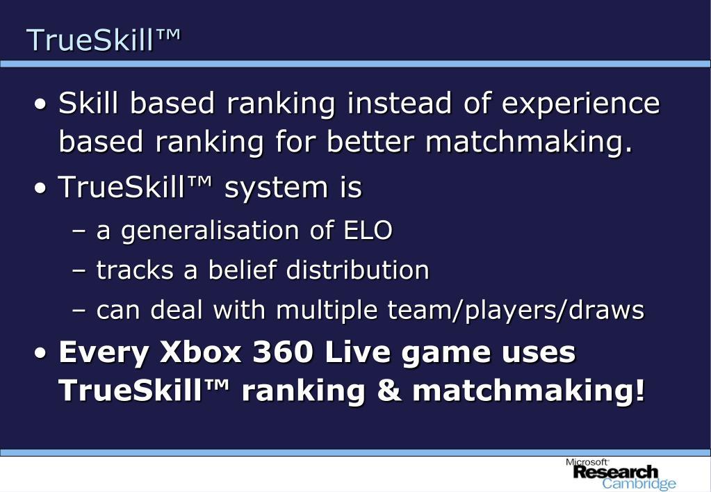 TrueSkill™