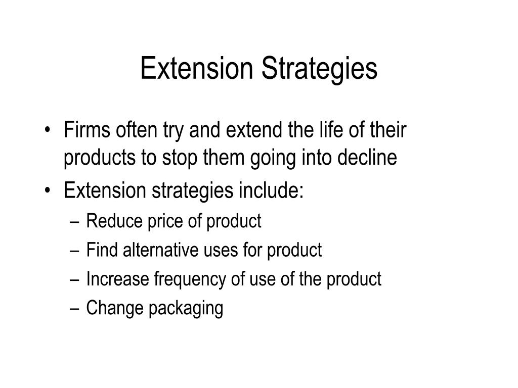 Extension Strategies