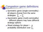 congestion game definitions