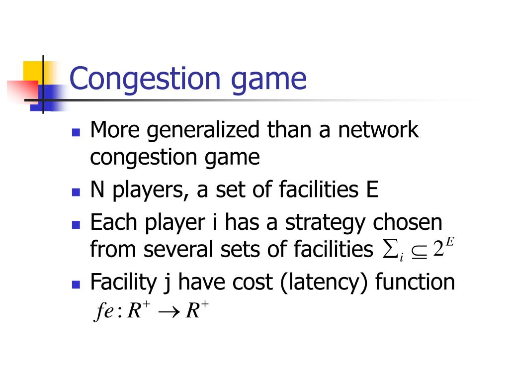 Congestion game
