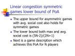 linear congestion symmetric games lower bound of poa