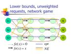 lower bounds unweighted requests network game