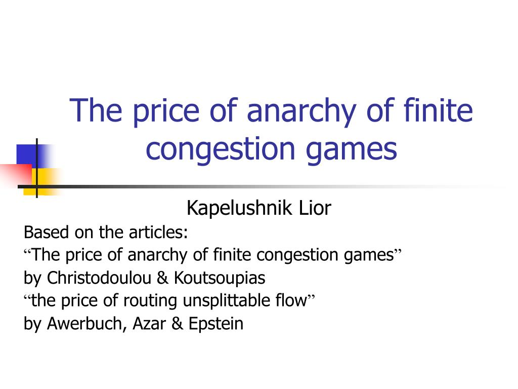 The price of anarchy of finite congestion games