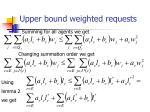 upper bound weighted requests26