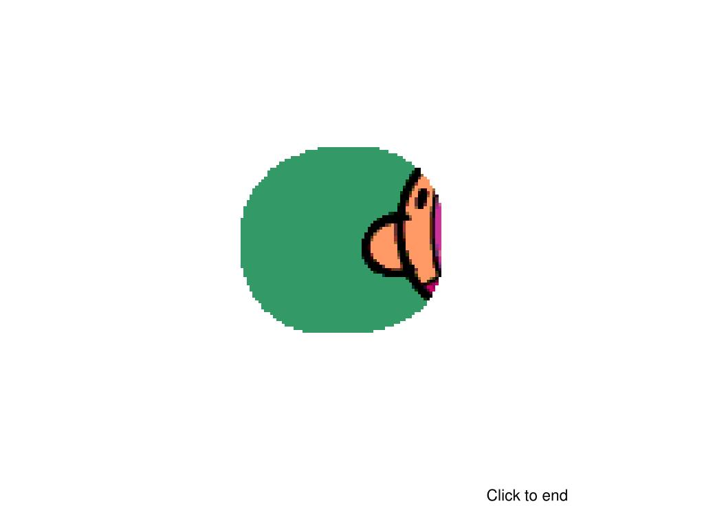 Click to end
