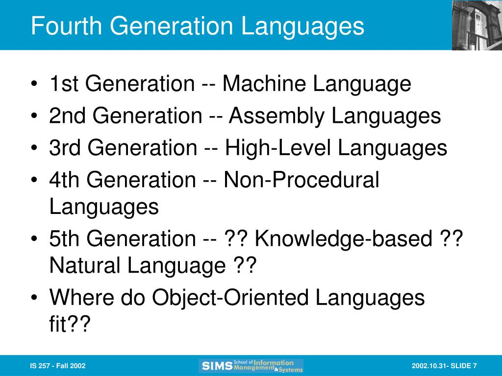 Fourth Generation Languages