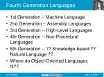 fourth generation languages