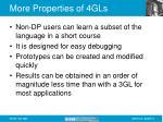 more properties of 4gls13
