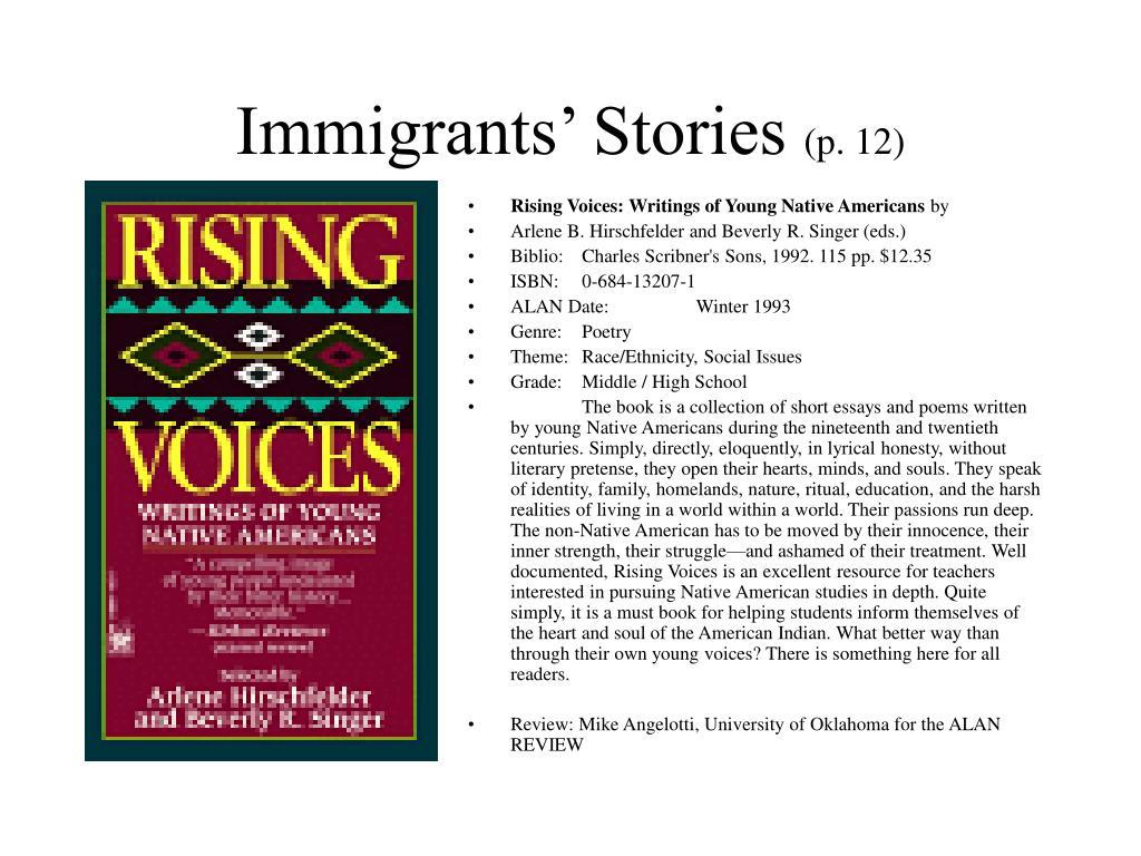 Immigrants' Stories