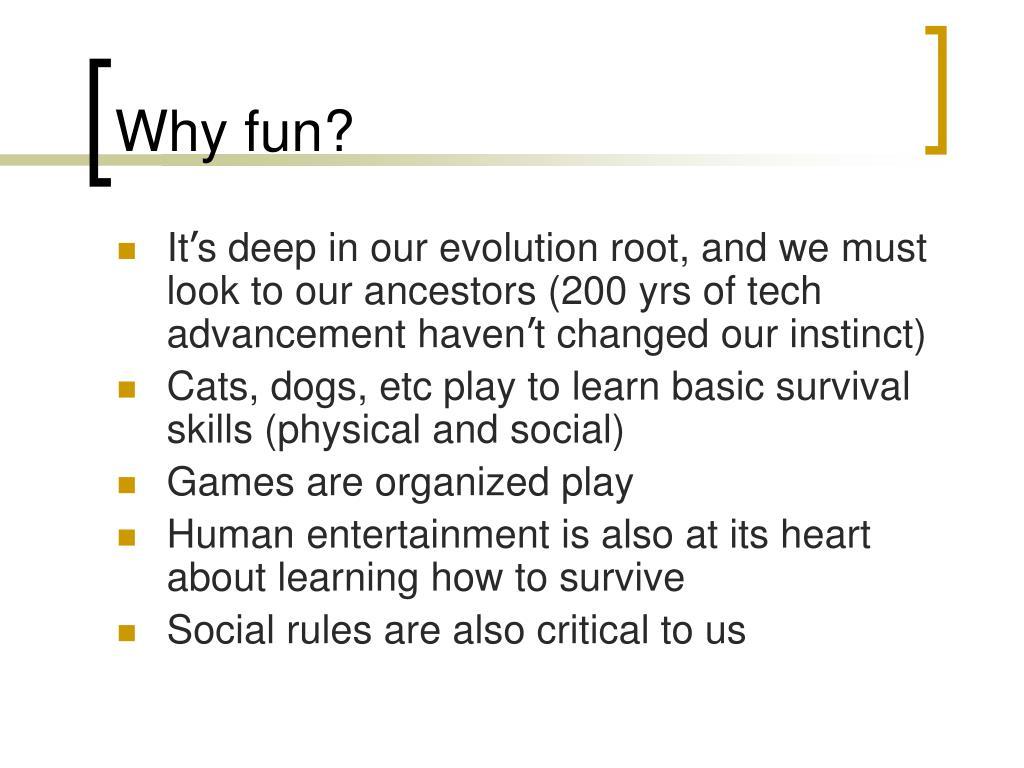 Why fun?