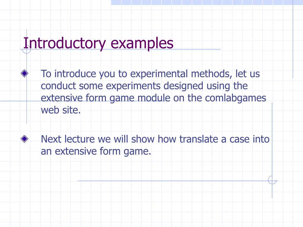 Introductory examples
