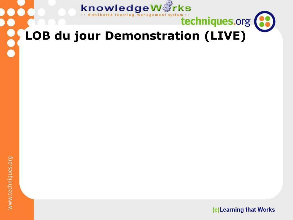 LOB du jour Demonstration (LIVE)