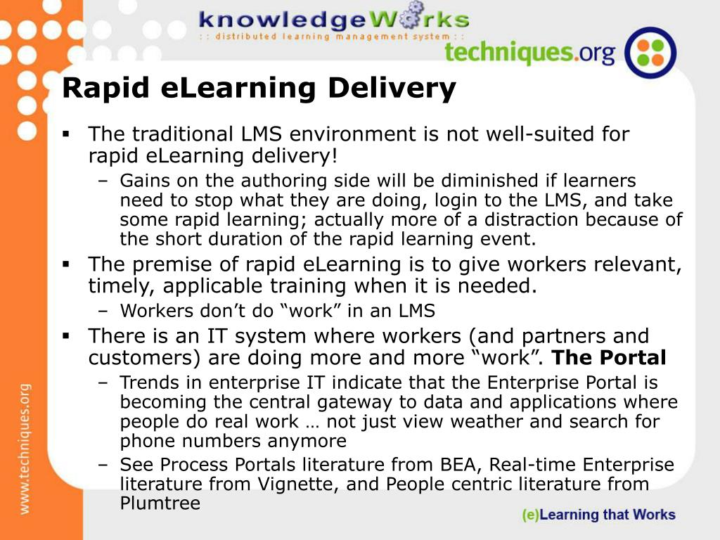 Rapid eLearning Delivery