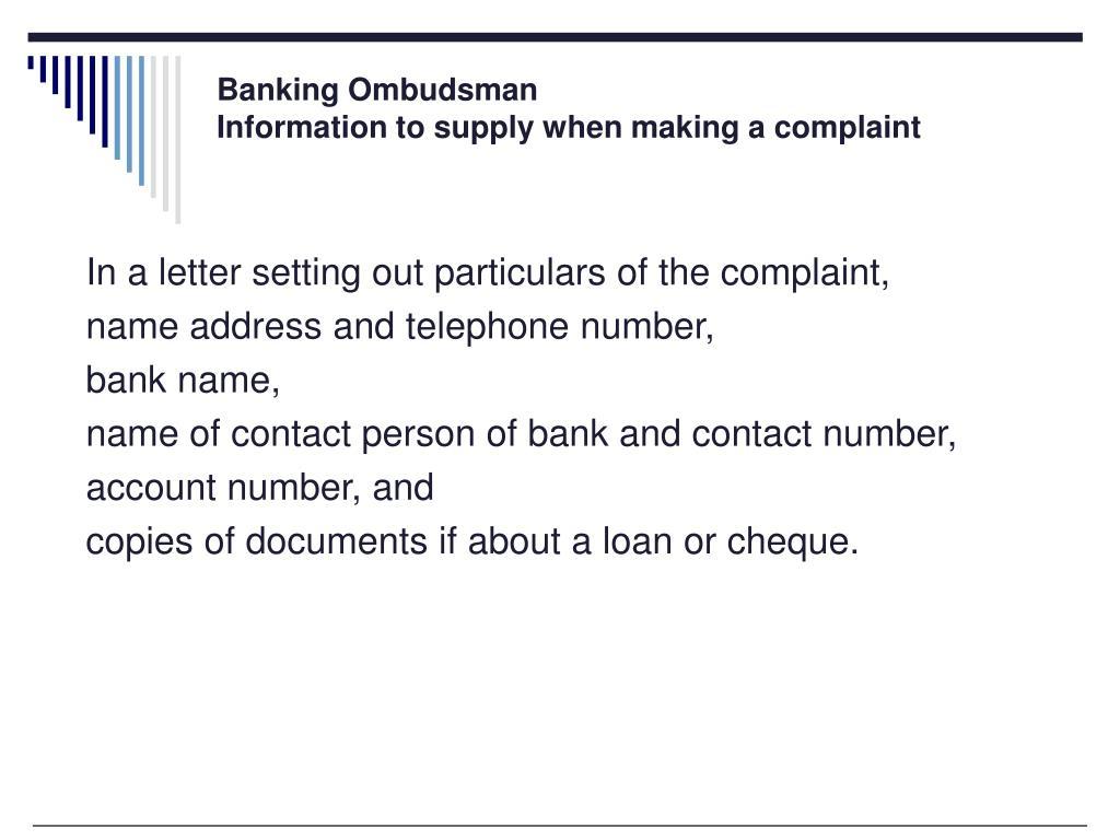 Banking Ombudsman