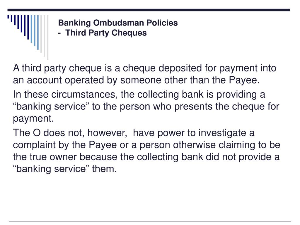Banking Ombudsman Policies