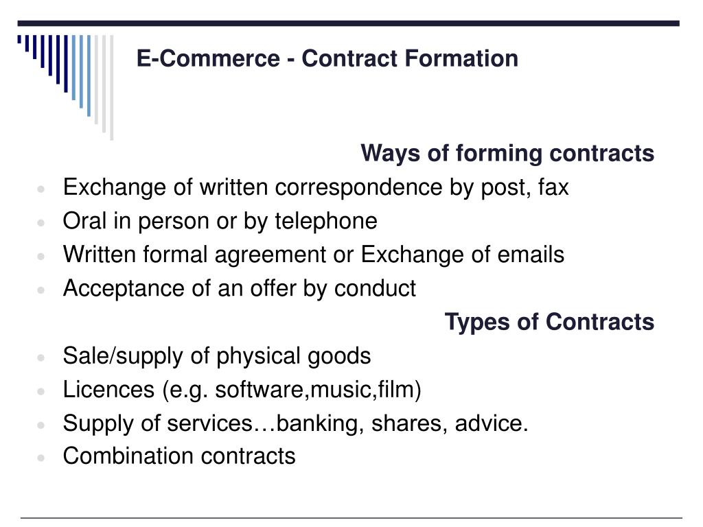 E-Commerce - Contract Formation