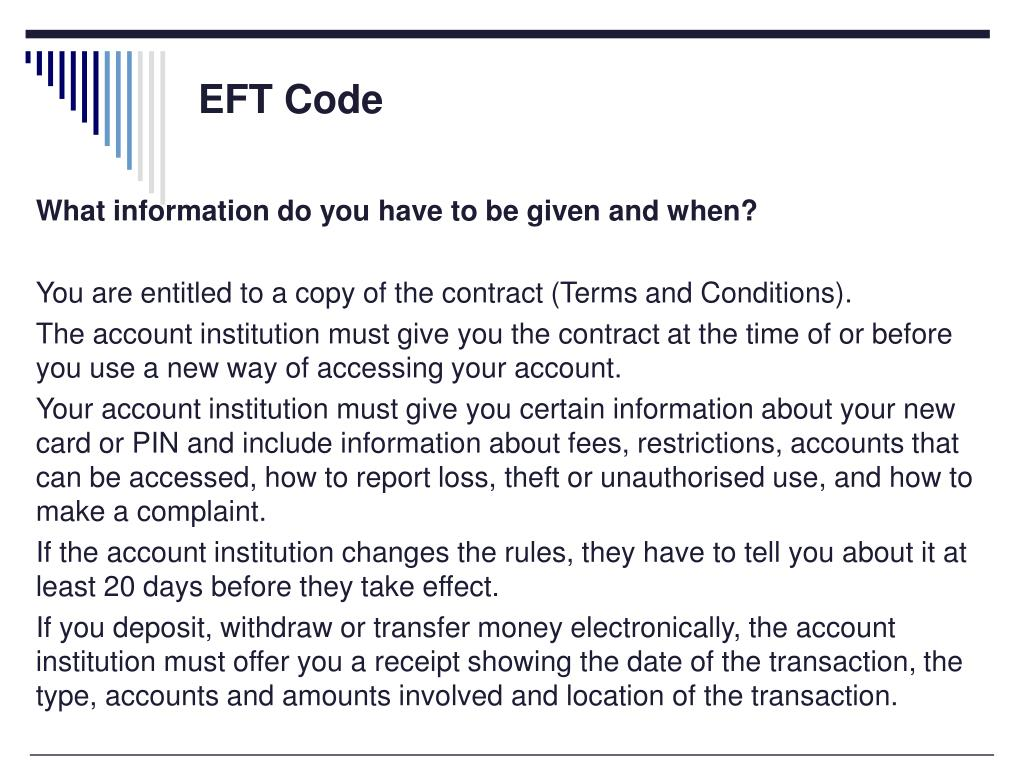EFT Code