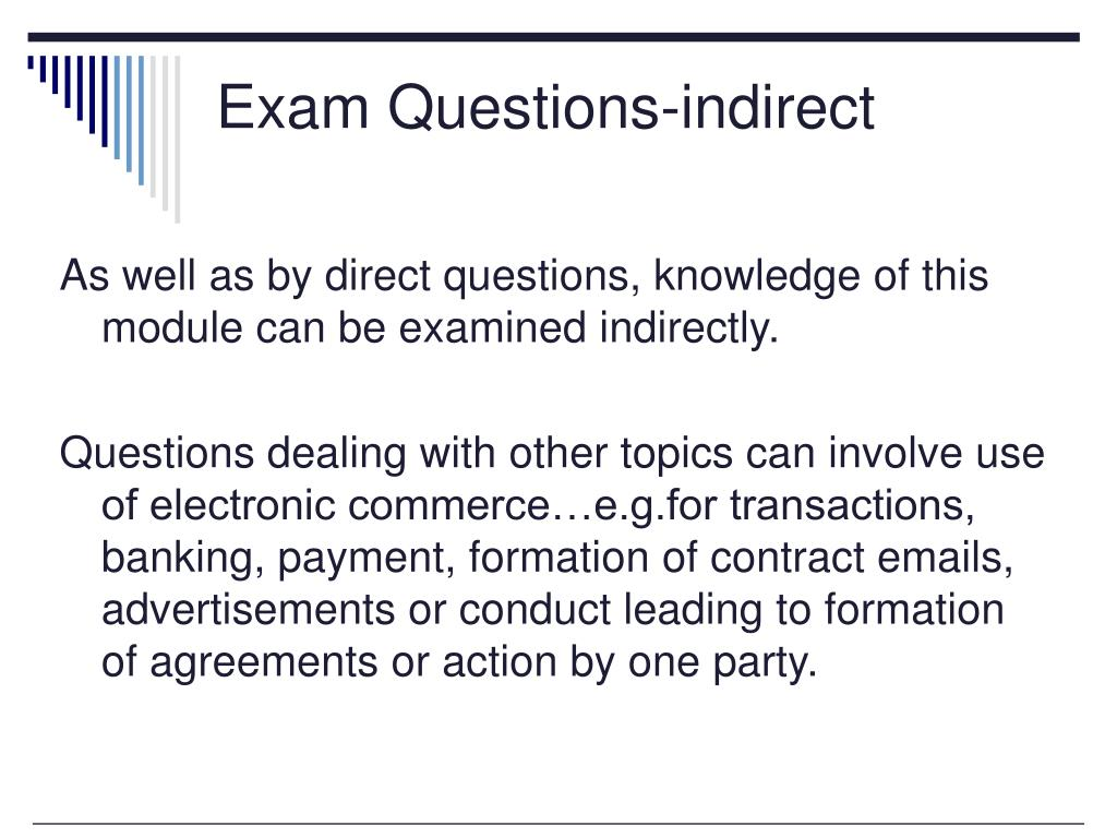 Exam Questions-indirect