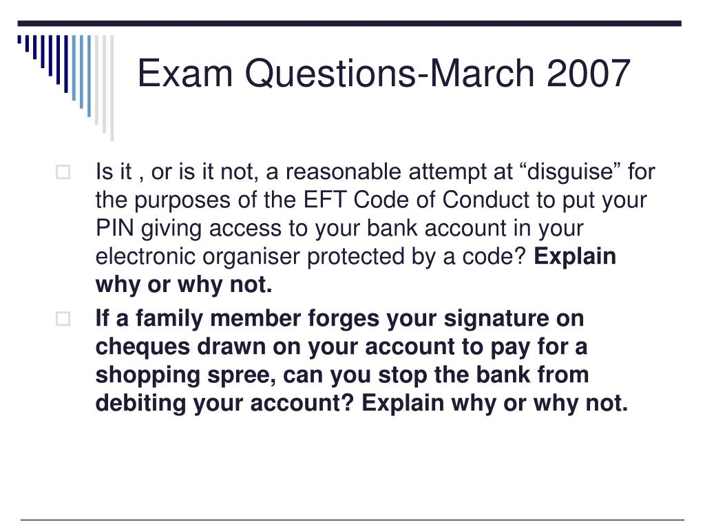 Exam Questions-March 2007