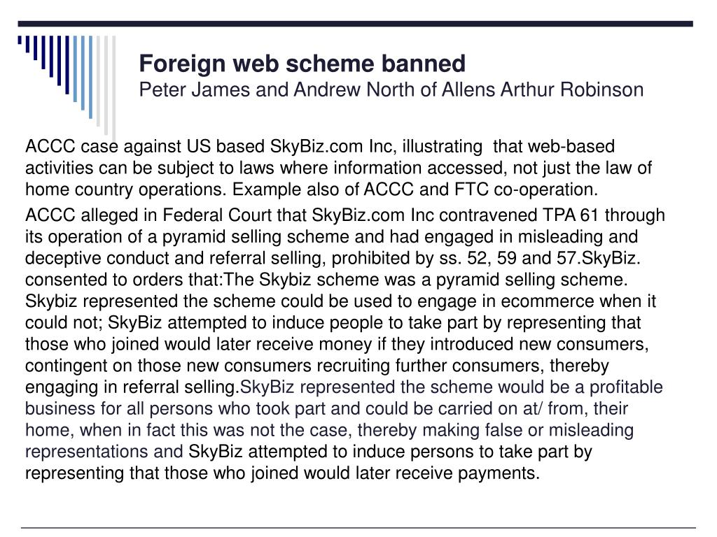 Foreign web scheme banned
