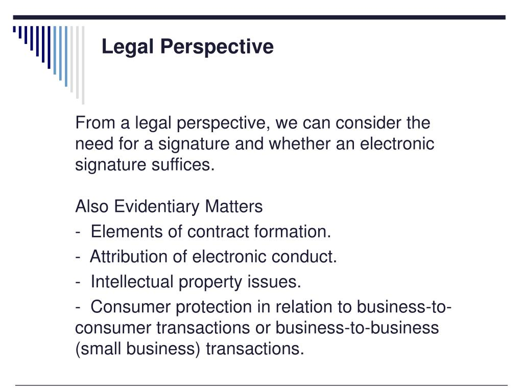 Legal Perspective
