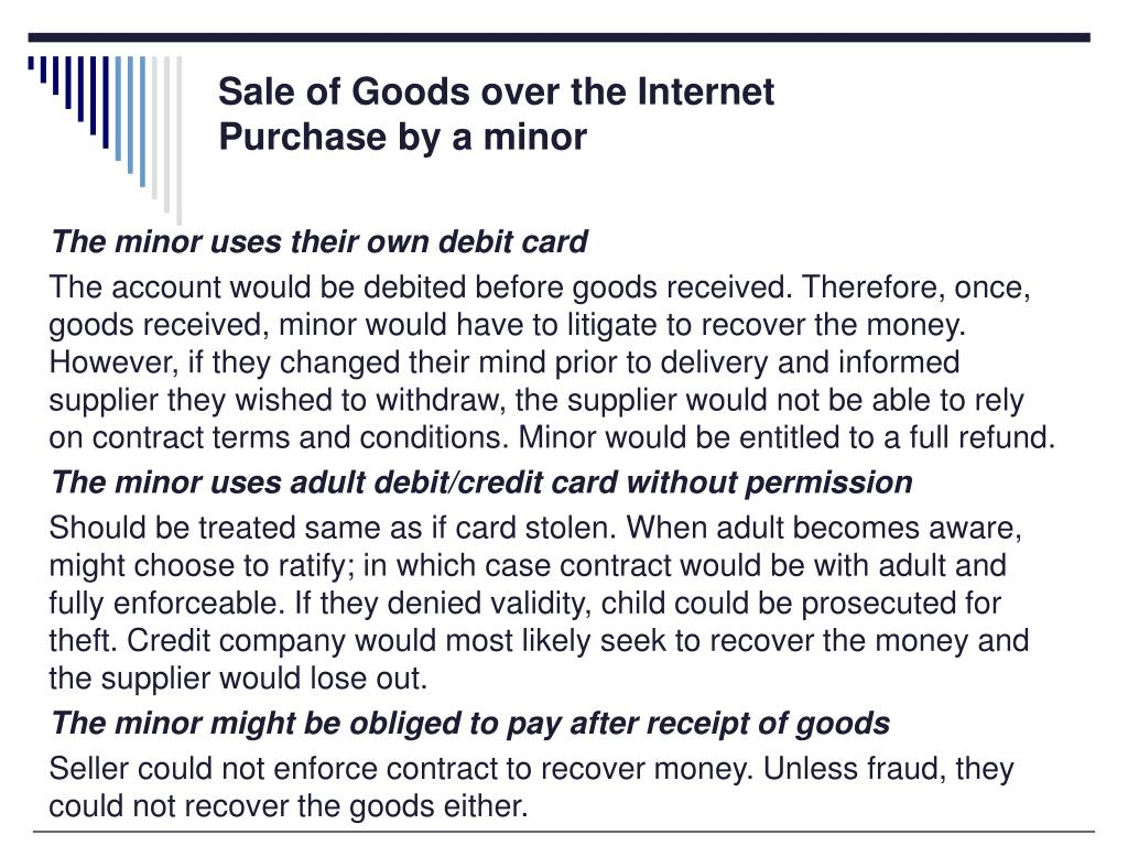 Sale of Goods over the Internet