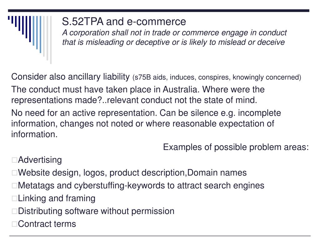 S.52TPA and e-commerce