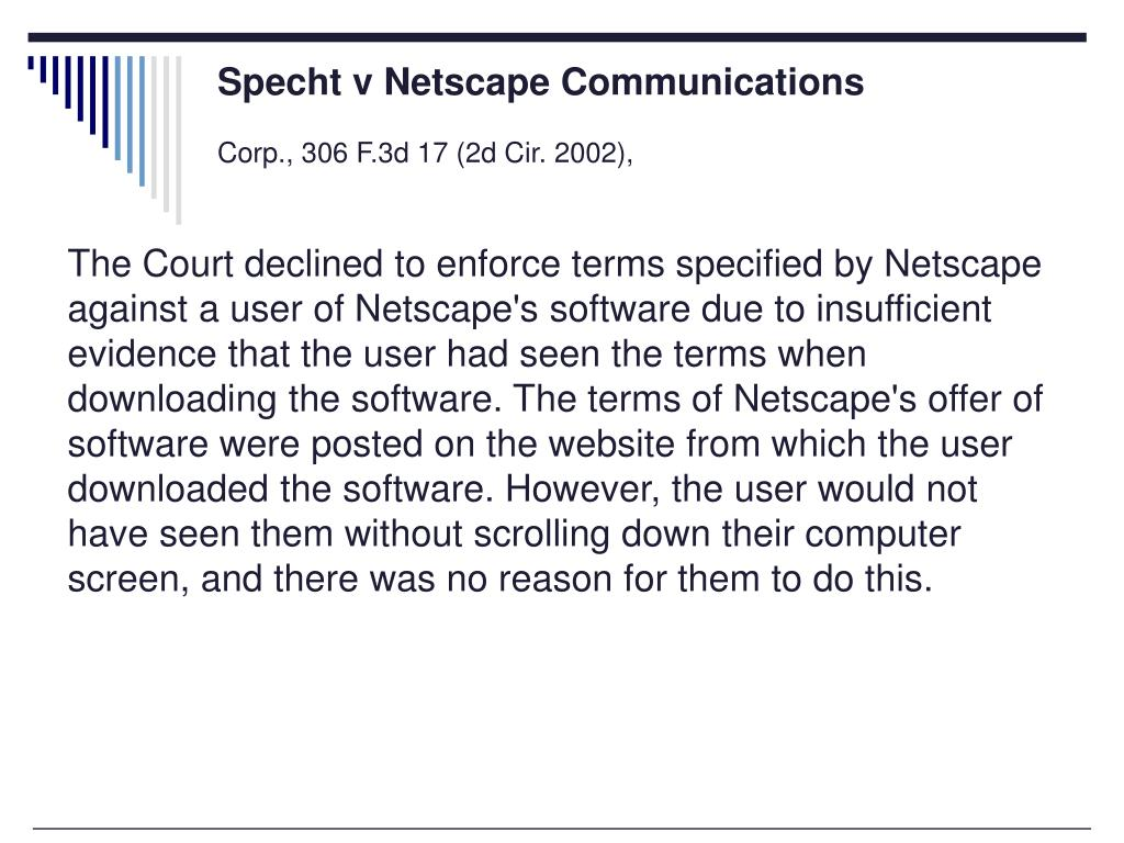 Specht v Netscape Communications