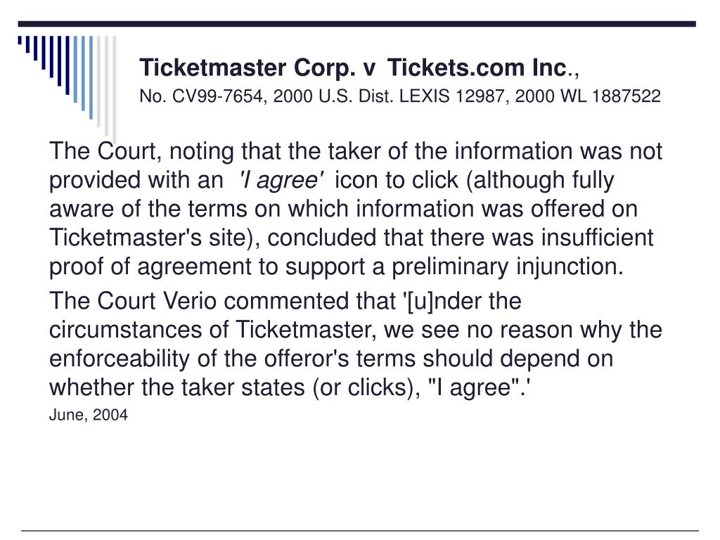 Ticketmaster Corp. v