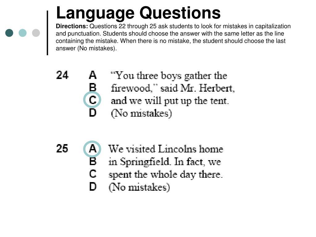 Language Questions