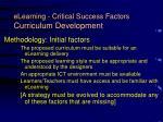 elearning critical success factors curriculum development11