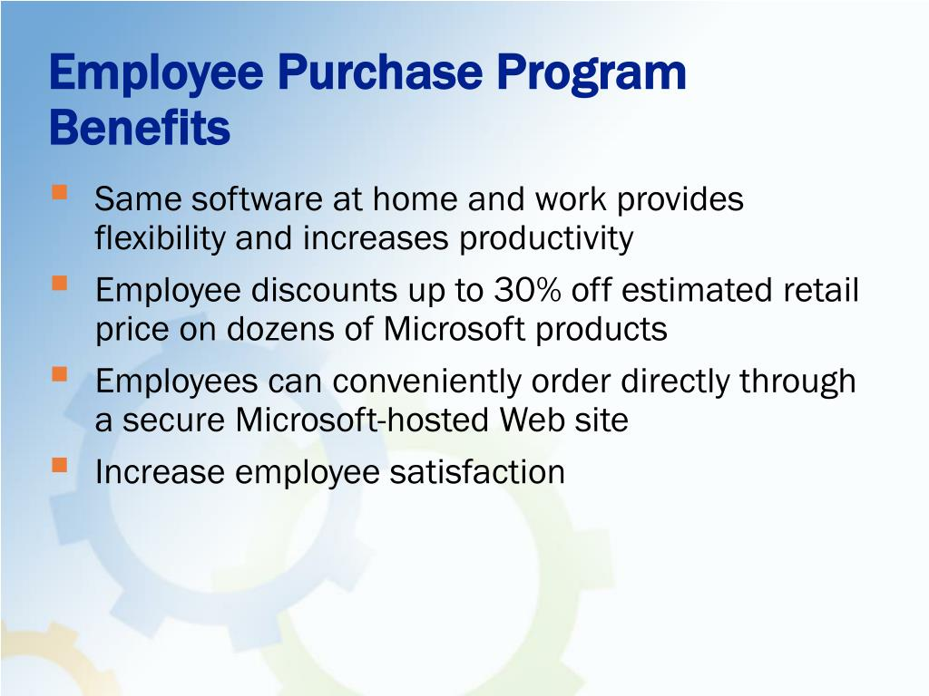 Employee Purchase Program Benefits